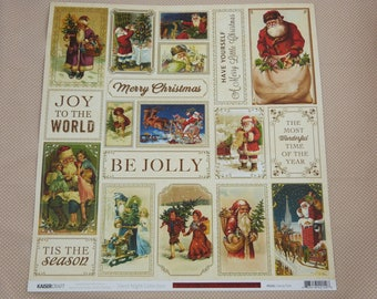 Sheet of paper 30 x 30 cm for scrapbooking and cardmaking Christmas