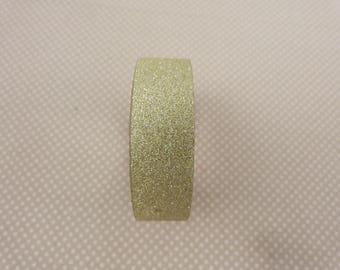Golden glittery tape masking roll