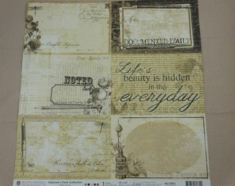 Sheet of paper 30 x 30 cm for scrapbooking and cardmaking