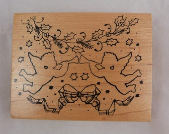 Wooden rubber stamp: the call of the angels
