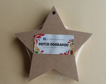 Set of 5 stars to decorate Christmas hanging
