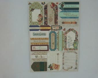 """Sheet of labels Scriptures """"Christmas Victorian"""""""