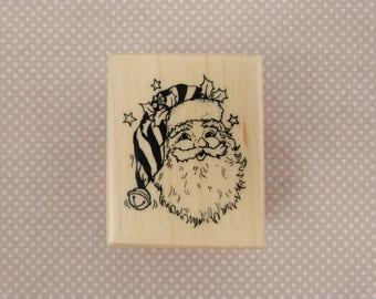 Wooden rubber stamp: Santa Claus