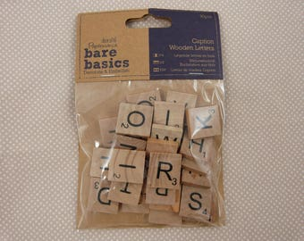 "Bag of ""scrable"" wooden letters"