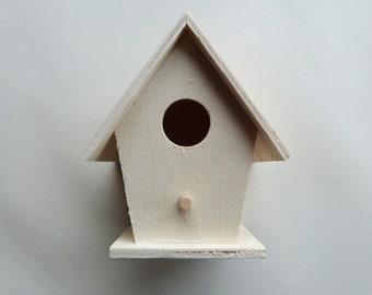 Small wooden birdhouse
