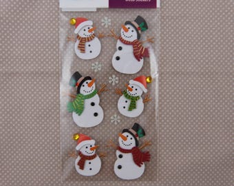 "Sheet of stickers ""Snowman"" 3D"