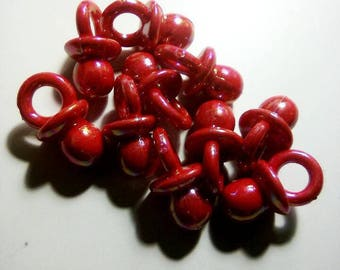 Set of 10 20mm red oil nipples