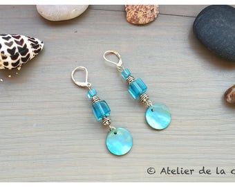 Art deco sterling silver and Swarovski elements earrings