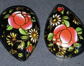 x 1 cabochon tensha drop flower cabochon tensha acrylic cabochon