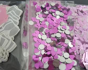 Confetti wedding decor, decoration party, pink confetti