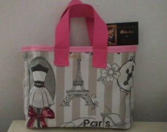 PARIS pink hand bag
