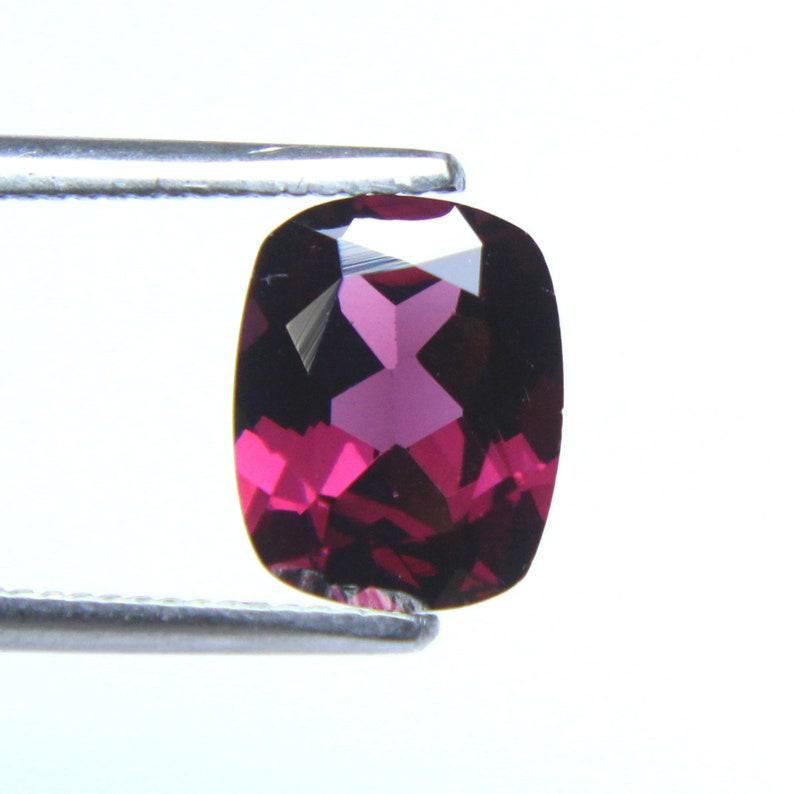 Pinkish Color /& Quality Natural Rhodolite Garnet Gemstone AA January Birthstone Cushion Faceted Loose Garnet Stone 9x7.1x4.3MM