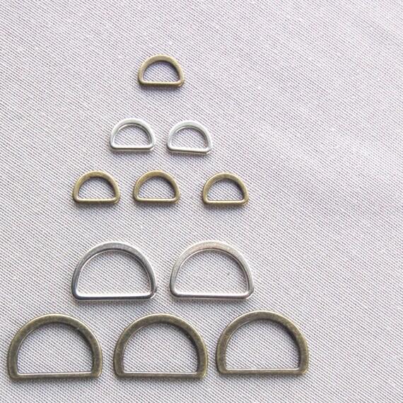 623f31af82bd BOUCLE metal ETRIER demi rond anneau D pour sangle de 10mm ou   Etsy