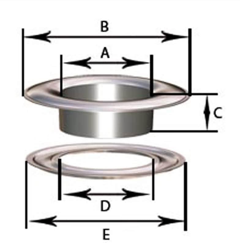 OEILLET METAL 5 10 ou 17 mm RONDELLE POUR PRESSE MANUELLE TARIF DEGRESSIF