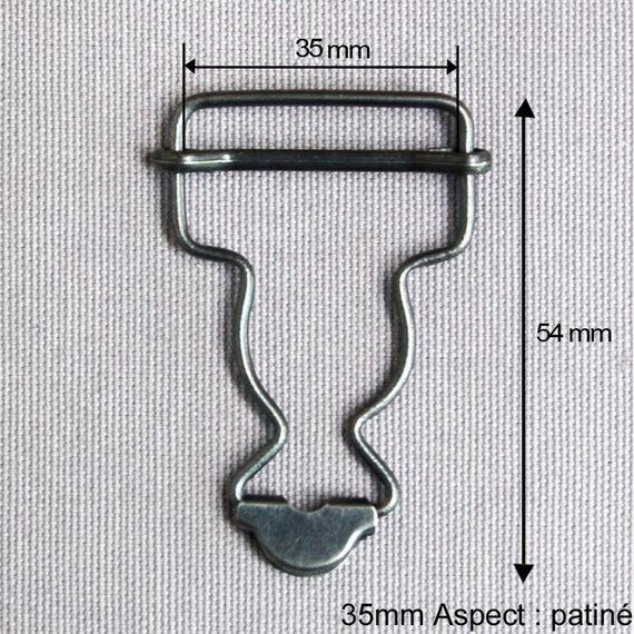 BOUCLE METAL SALOPETTE POUR BRETELLE DE 30 MM BRONZE TARIF DEGRESSIF