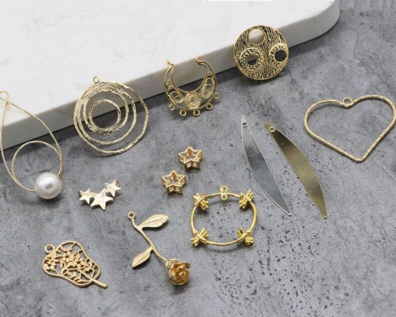 Femmes Bijoux vente PEAR CUT 18K Blanc Plaqué Or Dangle Earrings