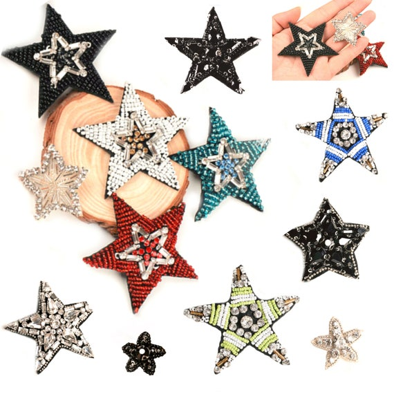 star patches star jeans bags shirt applique iron on patch sew on patch security