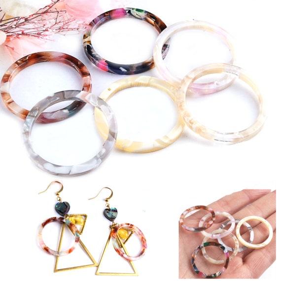 acrylic earrings Tortoise Acrylic Hoop Earring acrylic hoop Tortoise Square hoop earrings