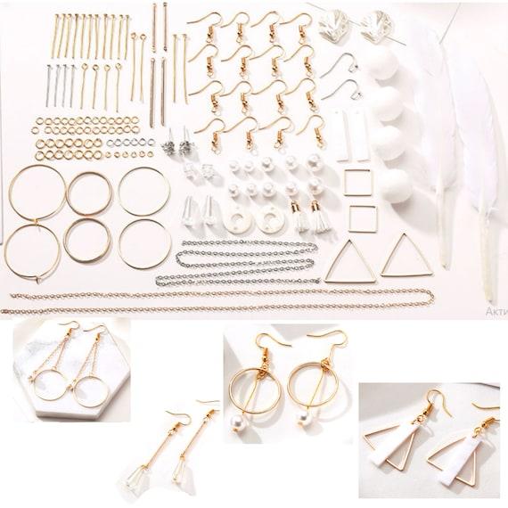 100 un pendiente oro en blanco configuración de PIN Post Stud atrás Craft pendiente hallazgos