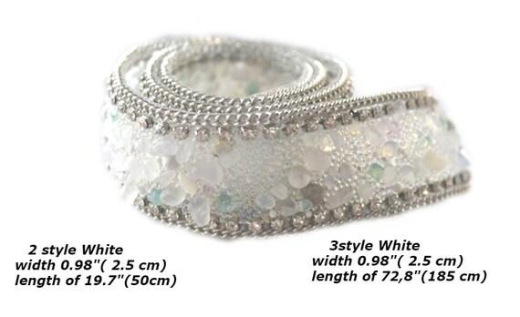 Ruban cristal strass embellir étincelle cristal Ruban garniture chaîne ceinture mariage robes de mariée accessoires Applique chaussures chaîne strass, 3, 5cm 5701bc