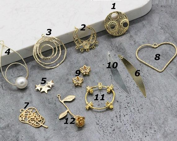 10 pcs solid brass oval locket Pendants photo frame locket charm 11x16mm