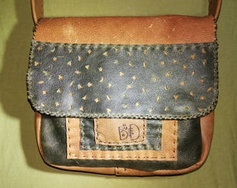 hand stitched leather bag