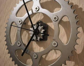 Motorcycle sprocket clock (steel/perspex)