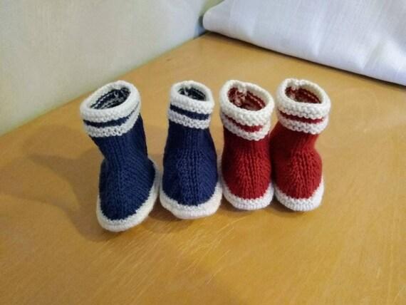 Stricken Baby Hausschuhe wolle Schuhe 6 Monate