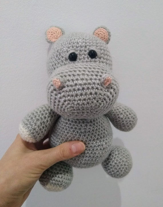 Crochet Amigurumi Hippo PATTERN ONLY Harvey Hippo pdf | Etsy | 721x570