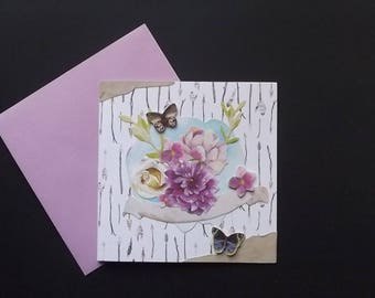 3D printed card, handmade.