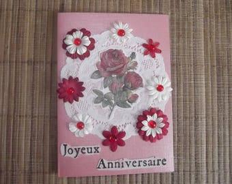 """Happy birthday"" card handmade in no. 3."