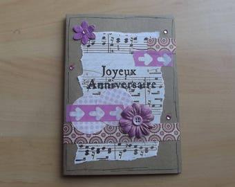 """Happy birthday"" card, vintage."