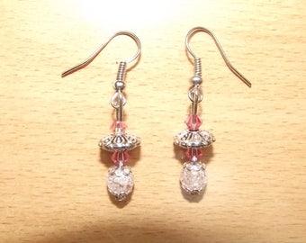 Earrings roses hand-made.