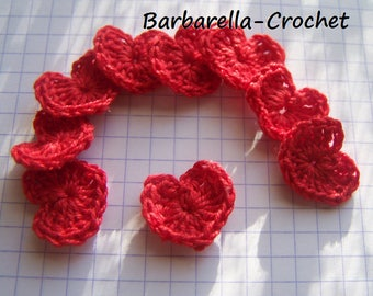 Crochet cotton and red heart applique
