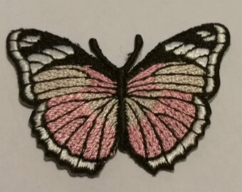 Shield patch embroidered applique cotton fusible Butterfly