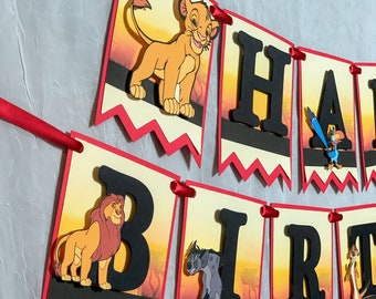 2 personalised birthday banner Lion King Lion Guard children kids party poster
