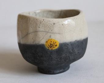 urige schwere Raku - Teeschale 270ml-Keramik