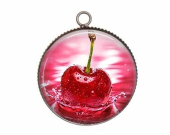 Cabochon resin cameo, 20 or 25 mm cherry candy choice