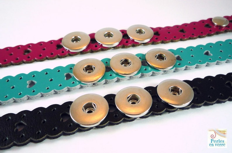 CH3 1 CHUNK turquoise leather bracelet to customize