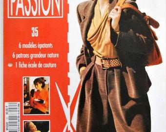 6 patterns sewing Passion No. 35 Editons Fabri