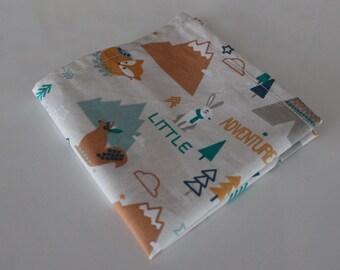 Mouchoir en tissu - 24 x 24 cm - motif indien   ocre - lavable - zero dechet 1fb571ee8d5