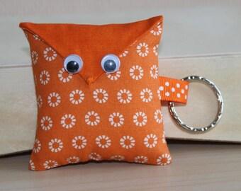 OWL Keychain - flower pattern