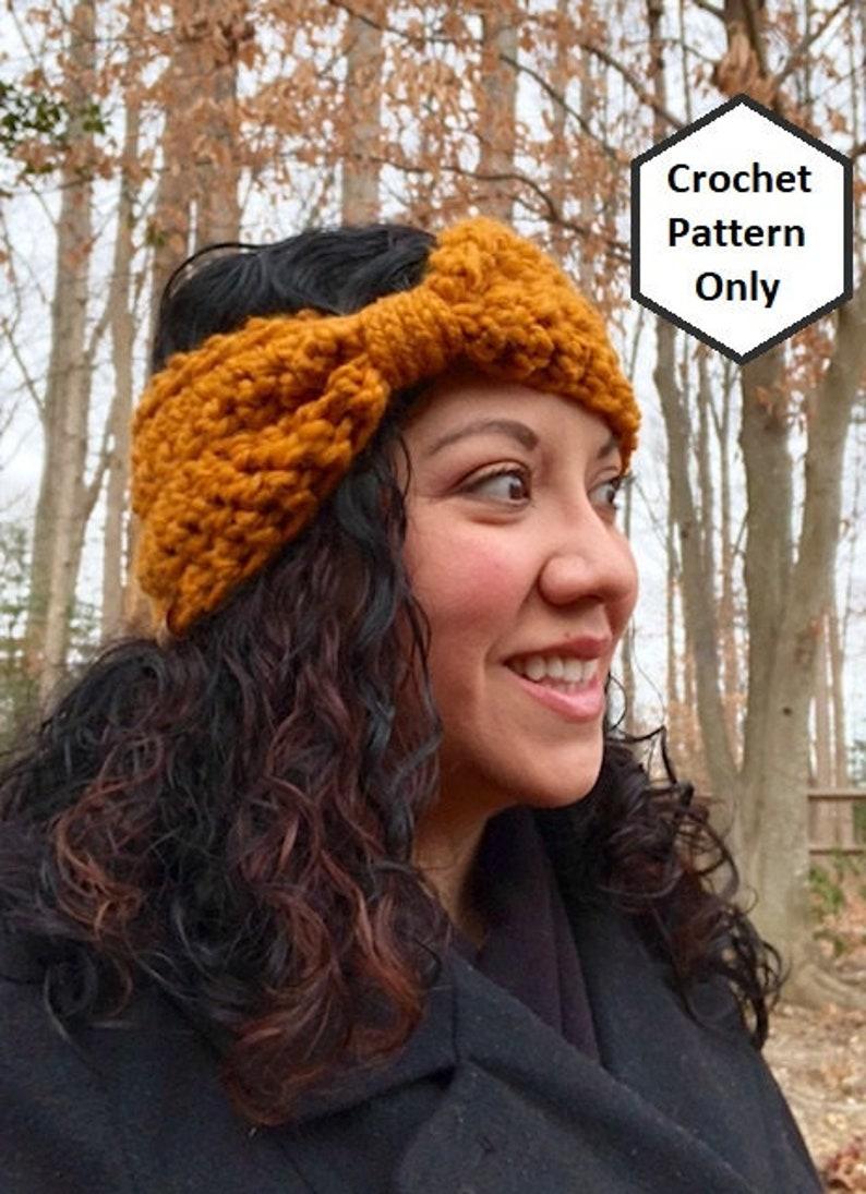 Chunky Crochet Ear Warmer Pattern Womens Braided Cinch Etsy