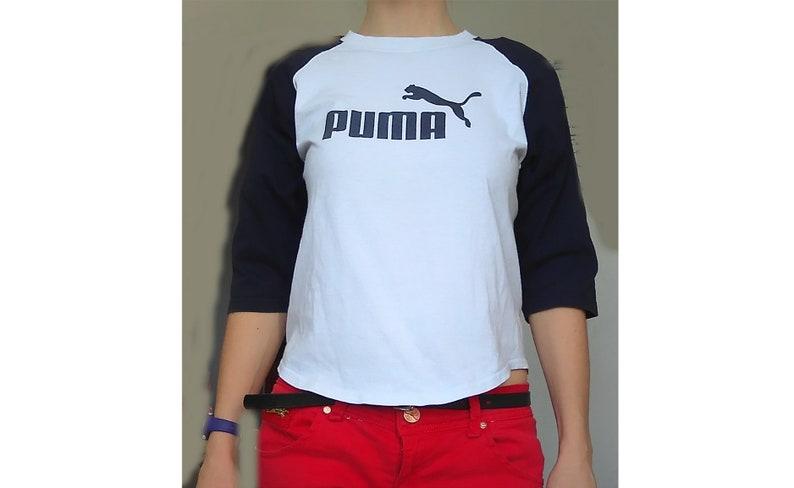 6aa22935cb41b PUMA Sweatshirt, Raglan Sweatshirt, 90s Puma, Puma Tshirt, 3/4 Sleeve  T-shirt, Branded Tshirts, Brand Sweatshirts, Festival, Adidas, Nike