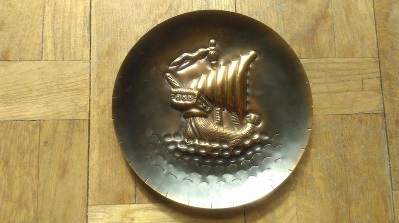 Embossed Clipper Ship Plate, Embossed Sailing Ship, Marine Wall Art,  Capitains Ship, Angelfish Ship, Restaurant Wall Art, Restaurant Decor