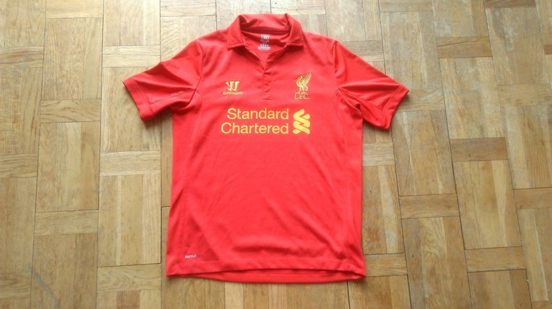 e6b2003eb 90s LFC Jersey Red Liverpool Football Club Jersey YXL