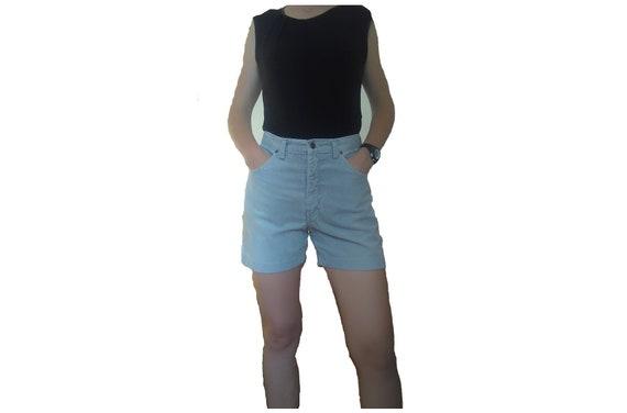 Corduroy High Waisted Shorts, Corduroy Shorts, Gre