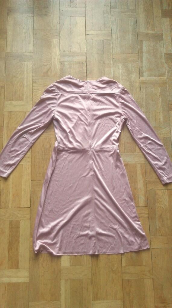 Munich Mini Dress Dress Dress Paris 60's Rare Lagotte Powder Miss Sleeve Size Dress Womens Long Dress 4 Dress Pink Munchen Dress q8Tn0S8