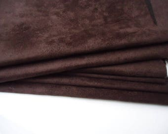 """Coupon - 50cm x 45cm - suede Brown """"Skin"""" quality-"""
