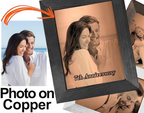 Your Photo on Copper Copper Anniversary Personalized